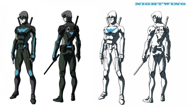 Illustration for article titled Artwork from scrapped Nightwing cartoon shows off DC heroes, Legend of Korra style