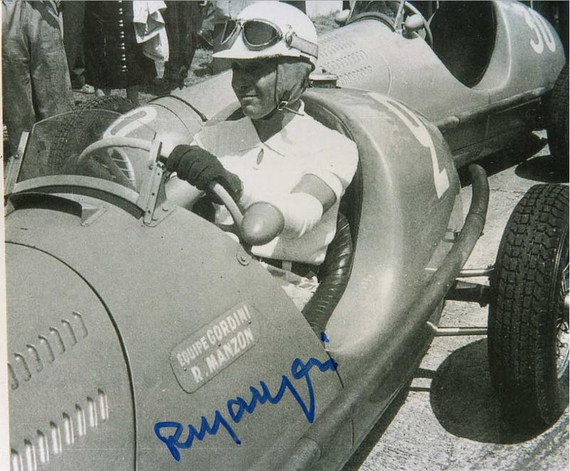 Illustration for article titled RIP Robert Manzon,the last living driver from F1's debut '50 season