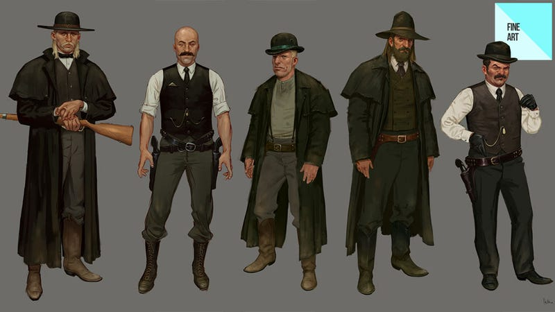 Illustration for article titled The Dusty Concept Art of Red Dead Redemption