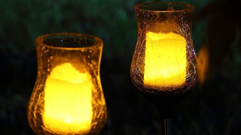 OxyLED OxyFlor Artificial Outdoor Candles, $10 with code 2OXYSL06
