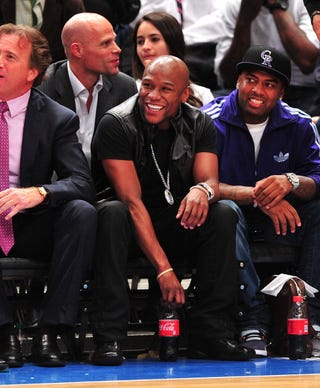 Floyd Mayweather Jr. is facing 34 years in prison. (Getty Images)