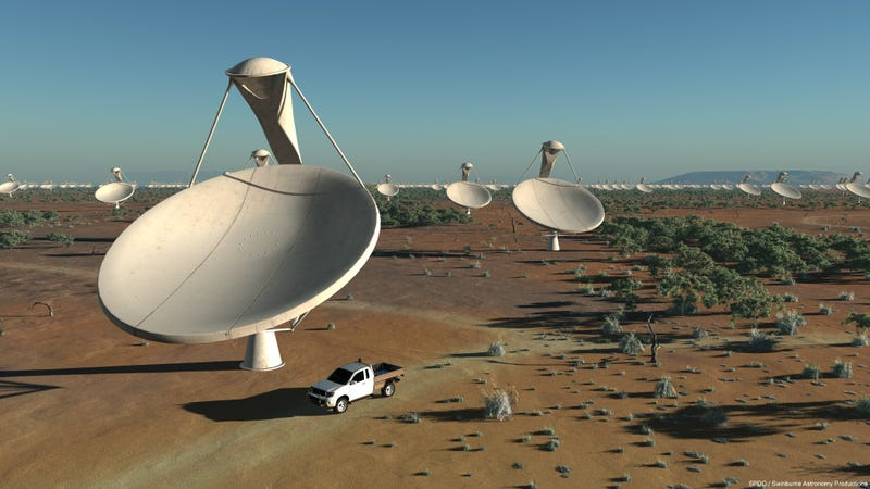 Illustration for article titled This $1.9 Billion Super Telescope Array Will Scan Space 10,000 Times Faster Than Ever Before