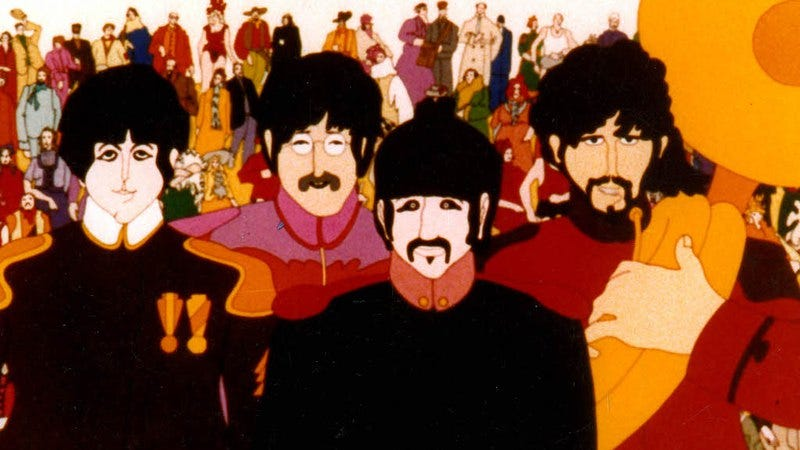 """Illustration for article titled The most-skippable Beatles cuts, from """"All You Need Is Love"""" to """"Yellow Submarine"""""""