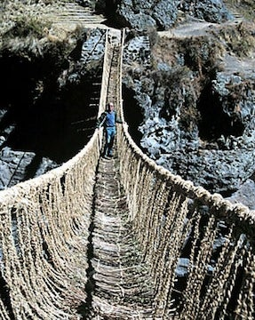 Illustration for article titled Would You Walk Across the Last Incan Handwoven Rope Bridge?