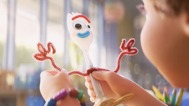 Illustration for article titled Weekend Box Office: Toy Story 4 makes Forky the king of the box office