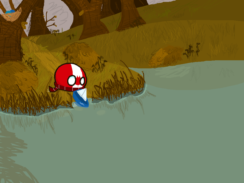 Illustration for article titled Daily PolandballArt: Autumn by the Lake.