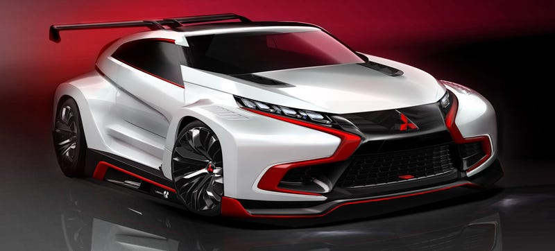 Illustration for article titled Mitsubishi's Gran Turismo Vision Concept Is A Furious AWD Hybrid Hatch