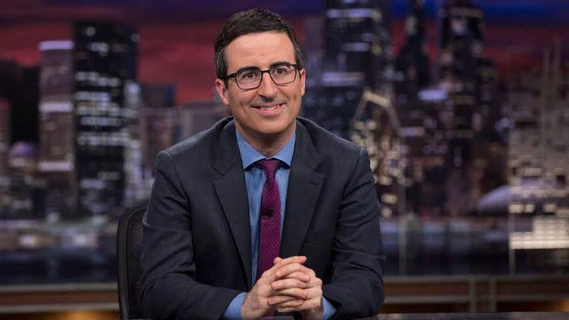 Illustration for article titled Win a pair of tickets to see John Oliver live at The Chicago Theatre