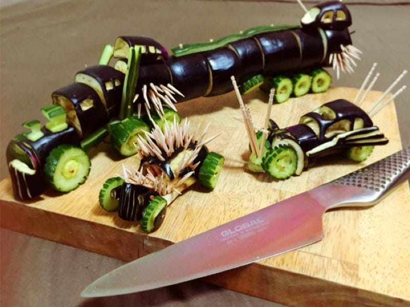 Illustration for article titled Mad Max Recreated with Vegetables for Dead Spirits