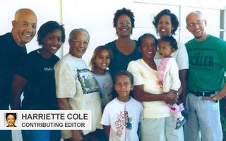 Harriette Cole with her family in Florida, November 2004