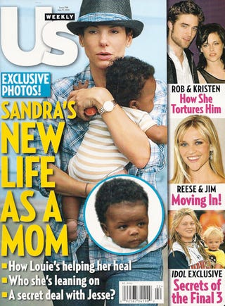 Illustration for article titled This Week In Tabloids: Sandra's Loving Her Baby; Britney's Having A Meltdown & Gaga Is A Lush