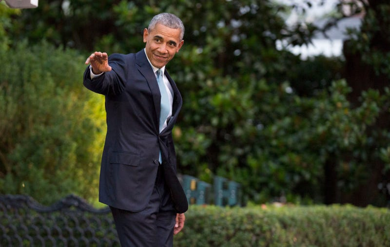 President Barack Obama walks to Marine One as he departs the White House in Washington, D.C., on July 27, 2016,  on his way to speak at the Democratic National Convention in Philadelphia. Joshua Roberts-Pool/Getty Images