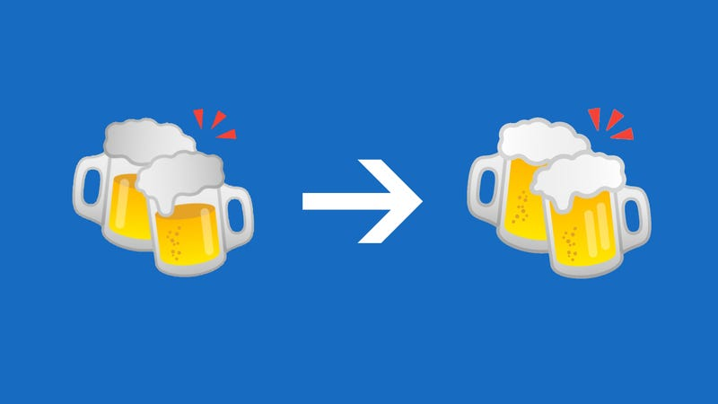 Google finally fixes the 'wrong' burger and beer emojis in Android 8.1