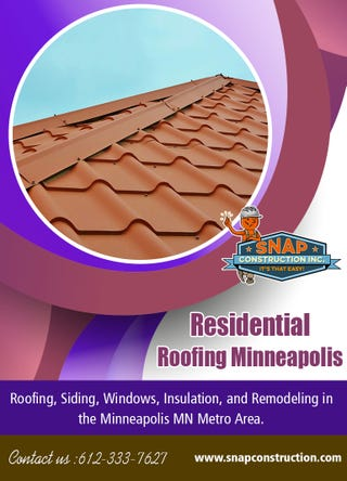 Illustration for article titled Residential Roofing Minneapolis | Call us 6123337627 | snapconstruction.com