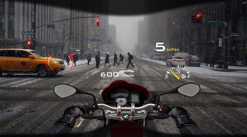 Illustration for article titled This Company Wants To Make A Heads Up Display You Can Put In Any Helmet