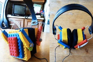 Illustration for article titled Lego Headphones Are the Instrument For Some Block Rockin' Beats