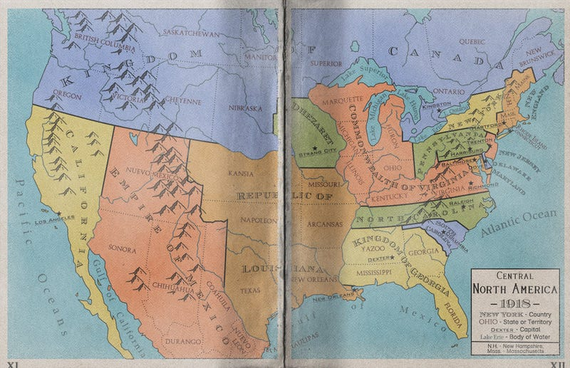 Maps Of An Alternate North America That Never Became The United States - Alternate-us-map