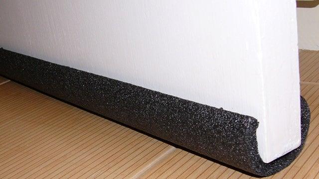 Repurpose Pipe Insulation Into A Door Draft Guard