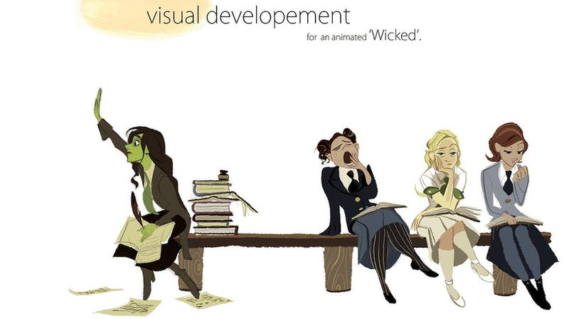 Good Character Design Portfolio : A disney artist imagines wicked as an animated film