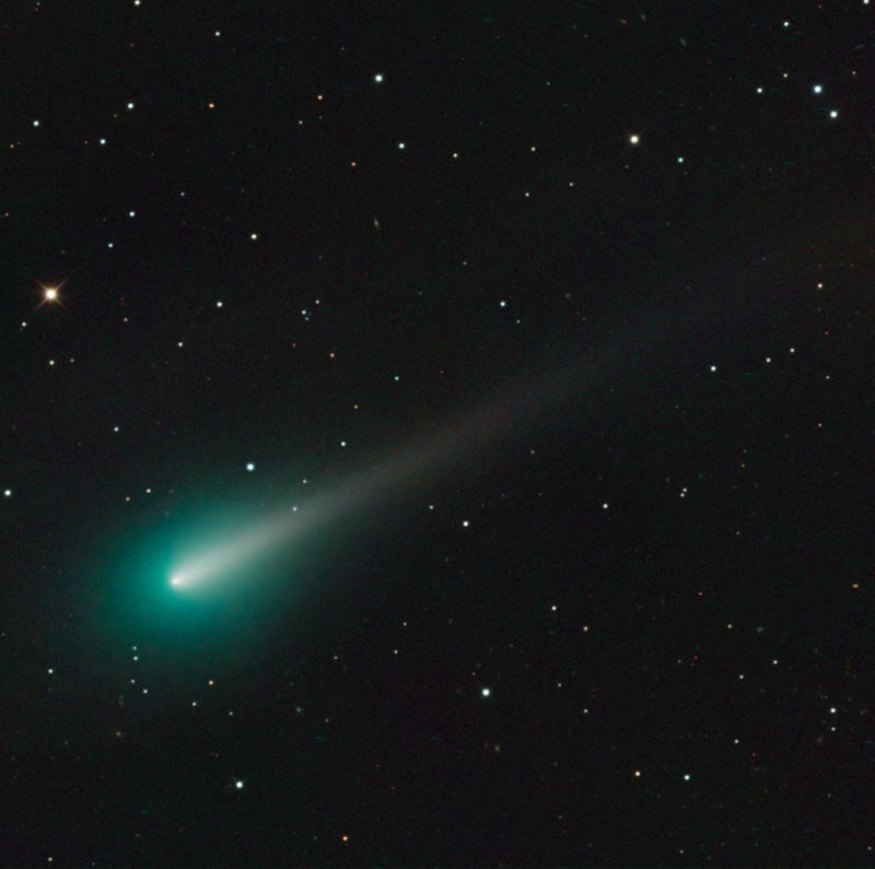 Illustration for article titled Comet ISON blazes green in new photographs