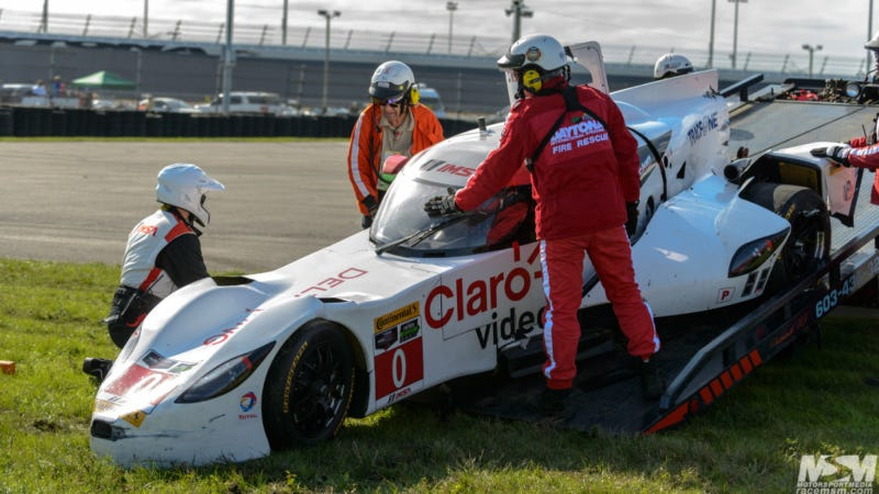 Illustration for article titled DeltaWing Crash Cuts Afternoon Session Short At The Roar Before The 24