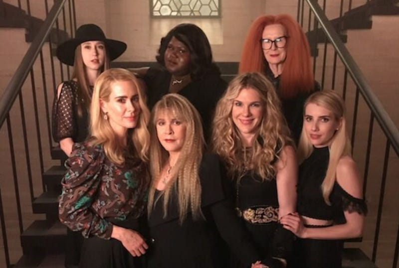 Illustration for article titled Stevie Nicks reunites with her Coven in first look at American Horror Story: Apocalypse