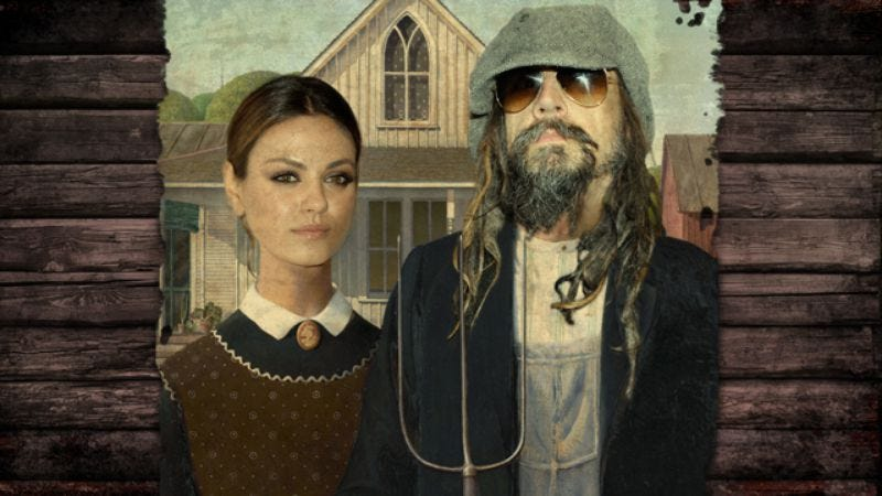 Illustration for article titled Mila Kunis and Rob Zombie walk into a bar, produce horror-comedy series for Starz