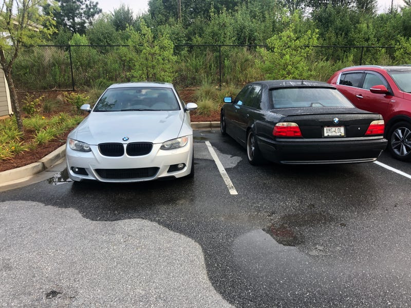 Illustration for article titled Walked out to this E38 parked next to my car this morning