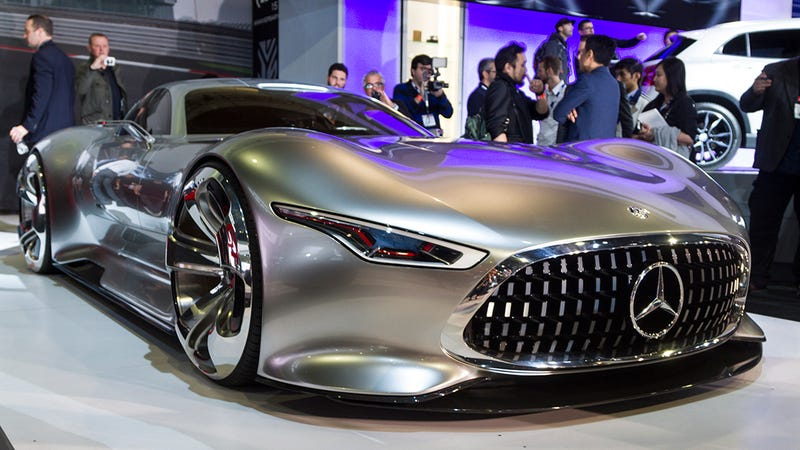 Illustration for article titled There are Playstation icons in the Mercedes-Benz Vision GT headlights