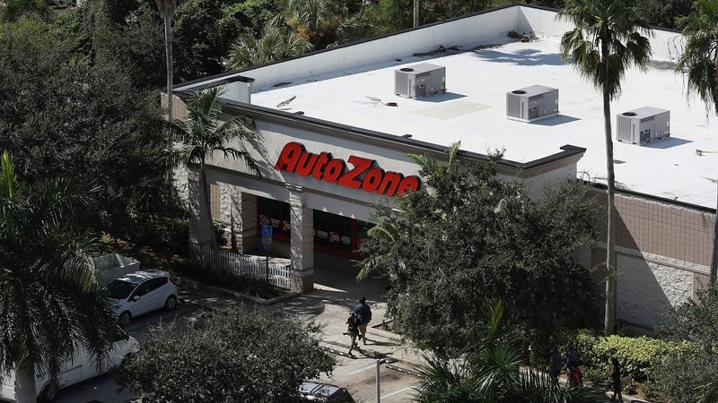 PLANTATION, FL - OCTOBER 26: The AutoZone at 801 S. State Road 7 is seen where Cesar Sayoc, a 56-year-old man from Aventura, Florida was arrested in the possible connection with pipe bombs being mailed to critics of President Donald Trump on October 26, 2018 in Plantation, Florida. The pipe bomb devices have been recovered in New York, Washington D.C., California and South Florida, all with the return address of Debbie Wasserman-Schultz's office.