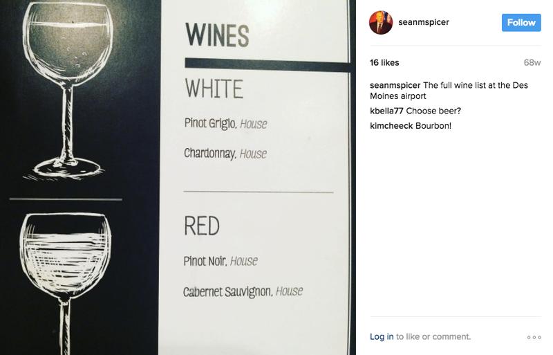 Photo via Sean Spicer's instagram