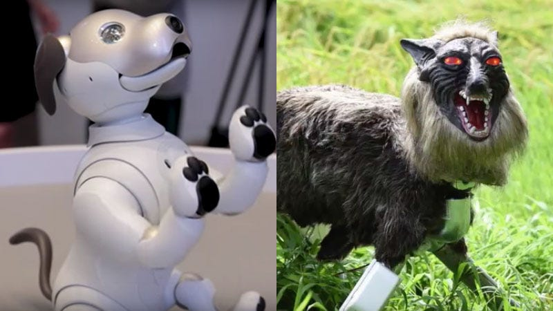 Illustration for article titled Robot Dogs Are Coming to the U.S., But All I Want Is This Evil Robot Wolf