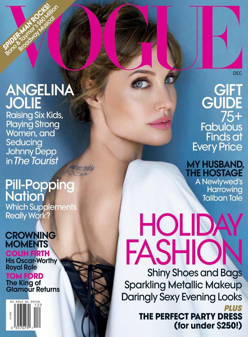 Illustration for article titled Angelina Jolie Covers Vogue, Spills Shiloh Secrets