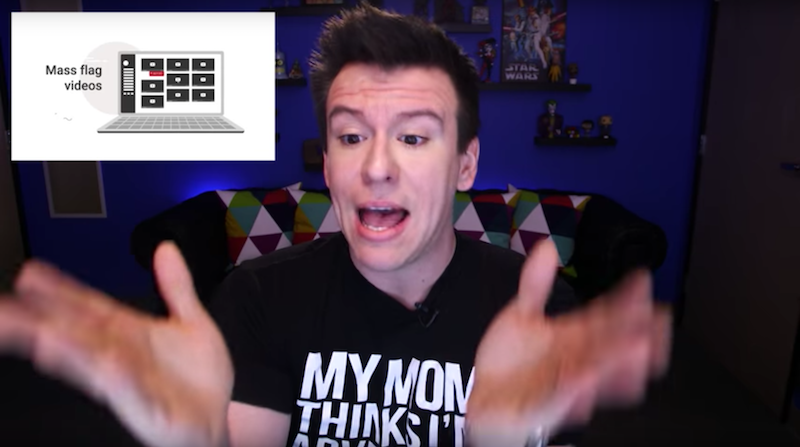 "Philip Defranco's ""THE INTERNET IS FREAKING OUT OVER NEW CENSORSHIP/MODERATION MEASURES"""