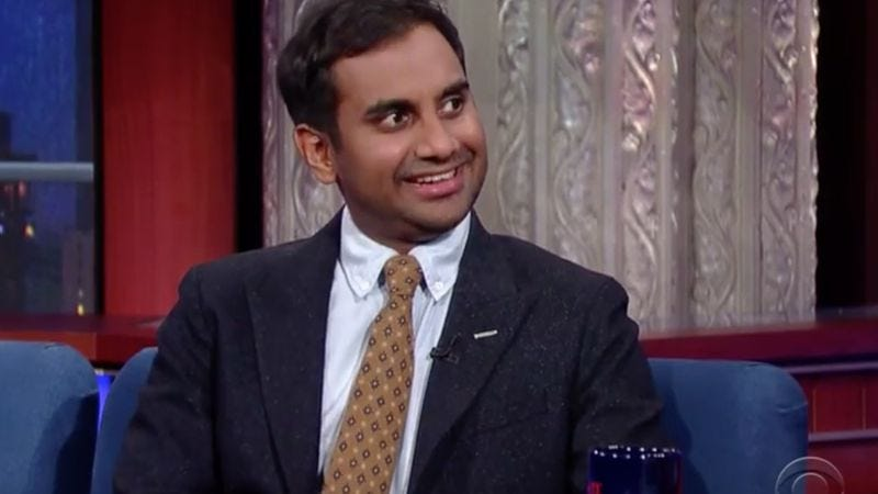 Illustration for article titled Aziz Ansari called out CBS's lack of diversity while on The Late Show