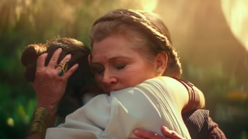 Carrie Fisher interpreta a la Princesa Leia en Star Wars: The Rise of Skywalker.