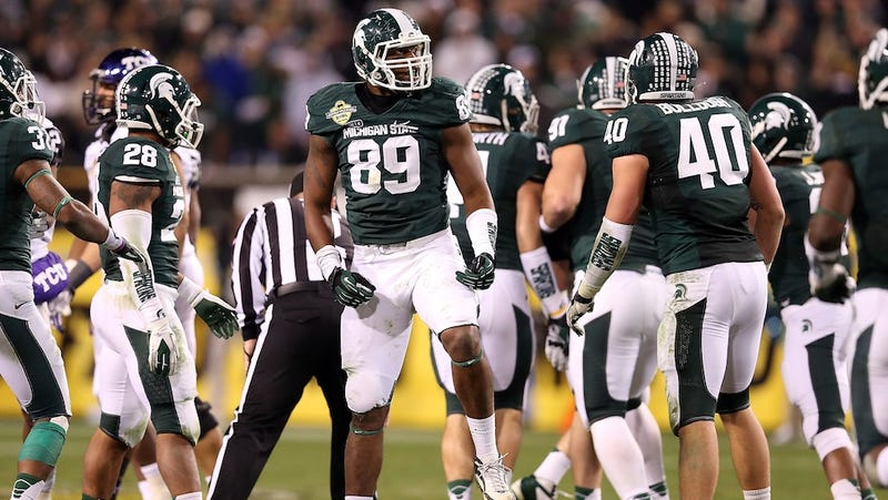 Illustration for article titled A Defensive End Is Michigan State's Best Offense