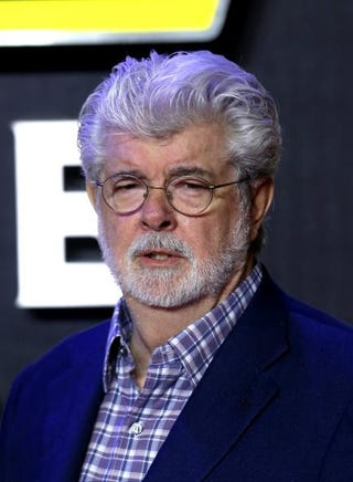 George Lucas attends the European premiere of Star Wars: The Force Awakens at Leicester Square in London on Dec. 16, 2015.Chris Jackson/Getty Images