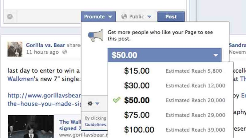 Illustration for article titled Facebook's Pay-to-Promote Posts Feature Has Arrived (Updated)