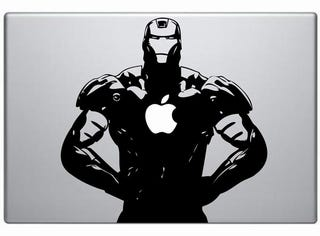 Illustration for article titled Iron Man Decal Powered by Apple Arc Reactor