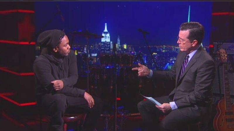 Kendrick Lamar, Stephen Colbert