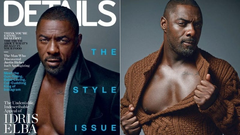 Illustration for article titled Idris Elba Is in a State of Undress on the Cover of Details