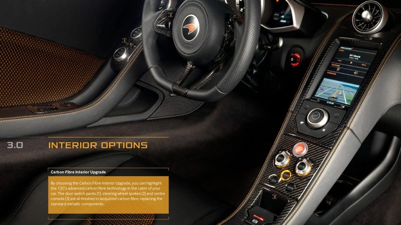 Thanks To A Soon To Be New Owner Of A McLaren MP4 12C, Weu0027ve Got A Copy Of  The Options Price List For Maccau0027s New $229,000 Supercar.