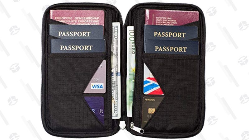 Zero Grid Passport Family Wallet | $17 | Amazon | Clip the $2 coupon and use code UP4NKWGI
