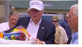 Donald Trump on the ground in LouisianaABC News Screenshot
