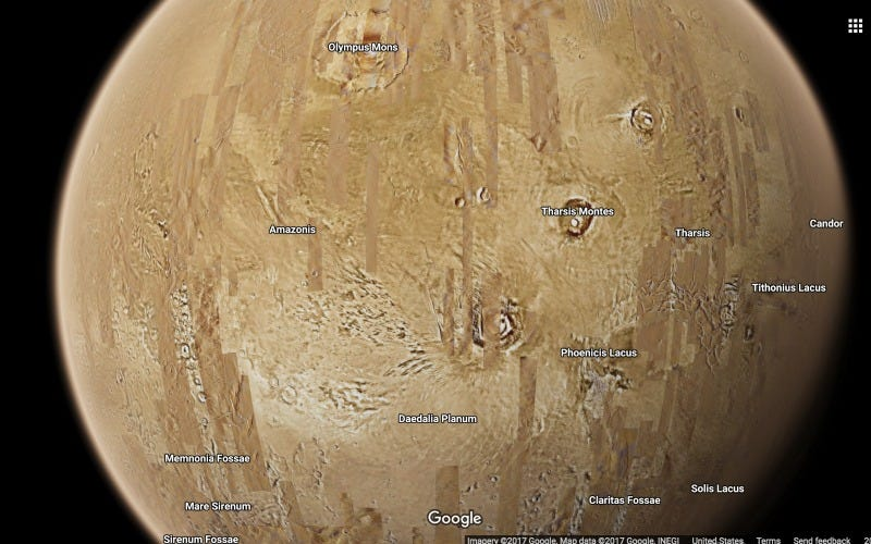Explore Space Using Google Maps
