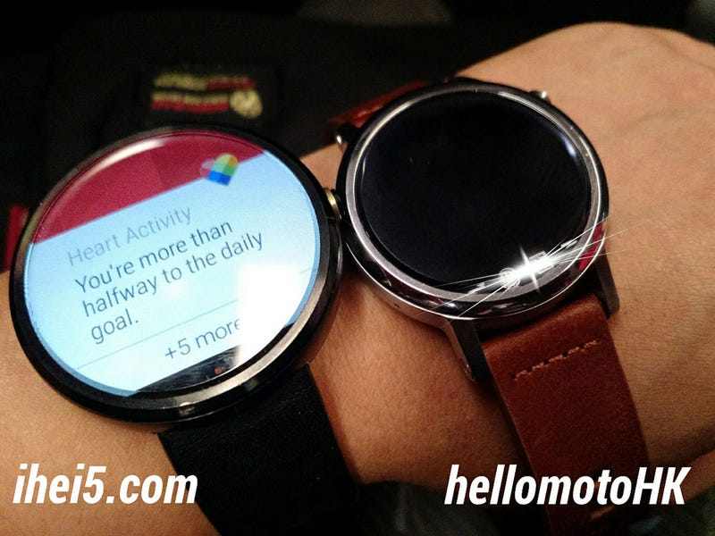 Illustration for article titled Leaked Photos Show the New Moto 360 May Come In Two Sizes, Like the Apple Watch