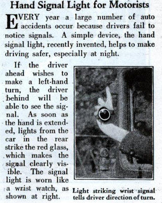 Illustration for article titled This 1931 handheld turn signal was a bad invention with good intentions