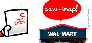 Illustration for article titled Wal-Mart Year-End Report Card: C