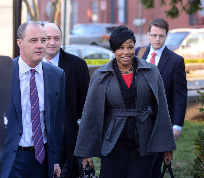 Attorneys Brian McMonagle (front, left) and Monique Pressley arrive for Bill Cosby's preliminary hearing on sexual assault charges at the Montgomery County Courthouse on Feb. 2, 2016, in Norristown, Pa.William Thomas Cain/Getty Images